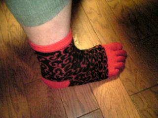 青島さんの靴下